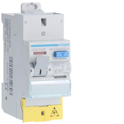 Interrupteur différentiel 2P 40A 30 MA A SanVis HAGER