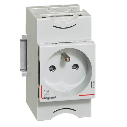 Prise de courant modulaire 10A à 16A 250V LEGRAND