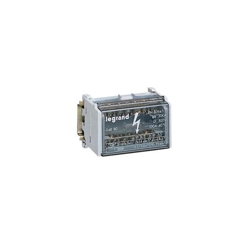 Répartiteur modulaire monobloc bipolaire à bornes 125A LEGRAND